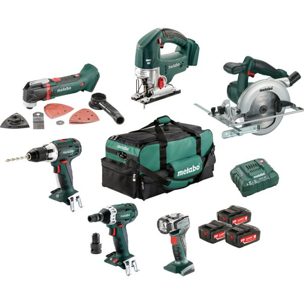 Metabo Combiset houtbewerking - 6 machines