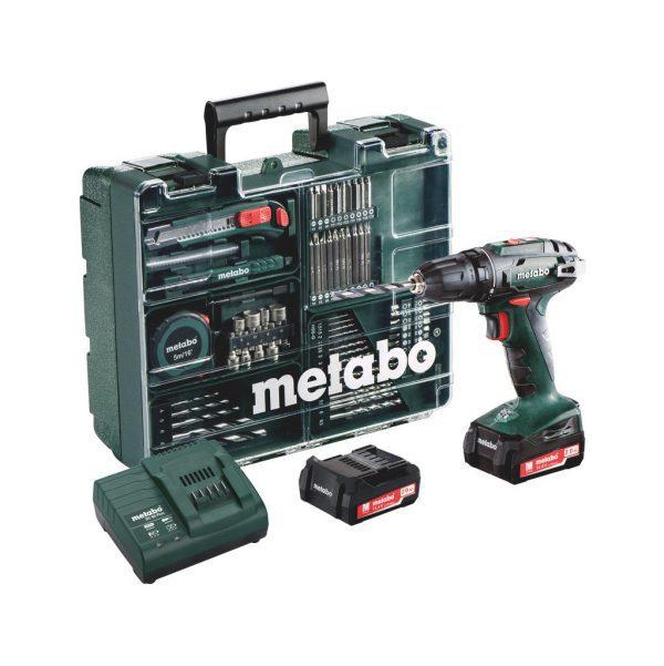Metabo BS 18 Quick Mobile accuboormachine en accessoirekoffer